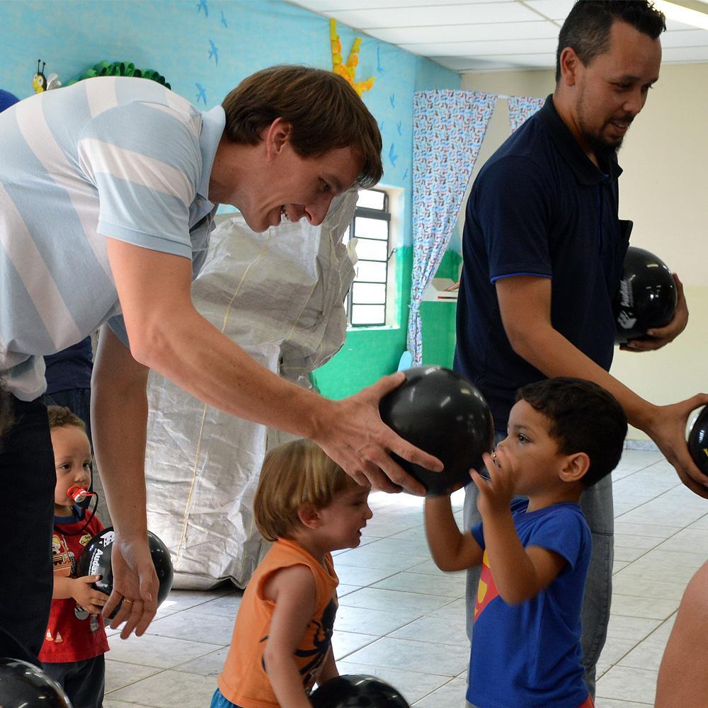 Ação social no dia das crianças